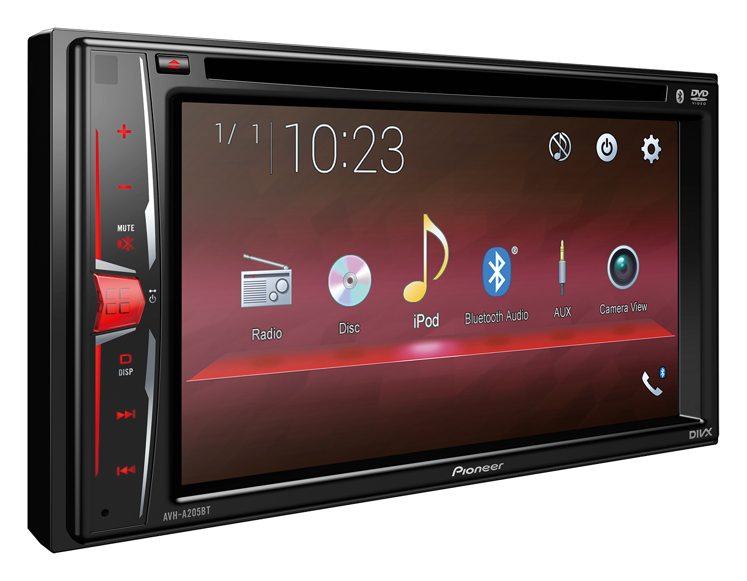 Avh A205bt Pioneer Diagram Also Kenwood Double Din Car Stereo Further 2016 Sport Cars Km763 Rcrdri Red Left A1